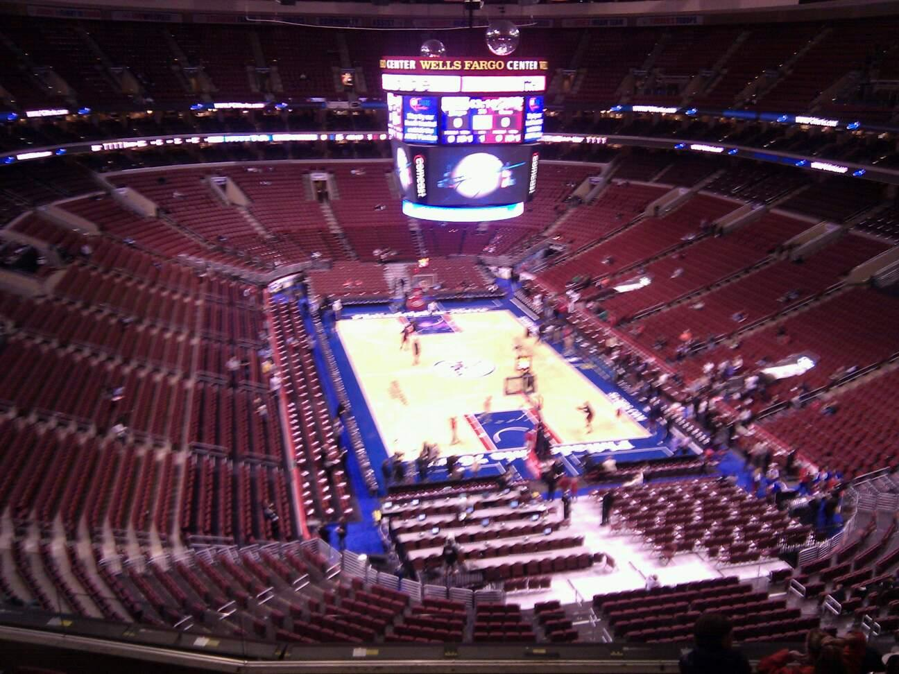 Wells Fargo Center Section 218 Row 7 Seat 4