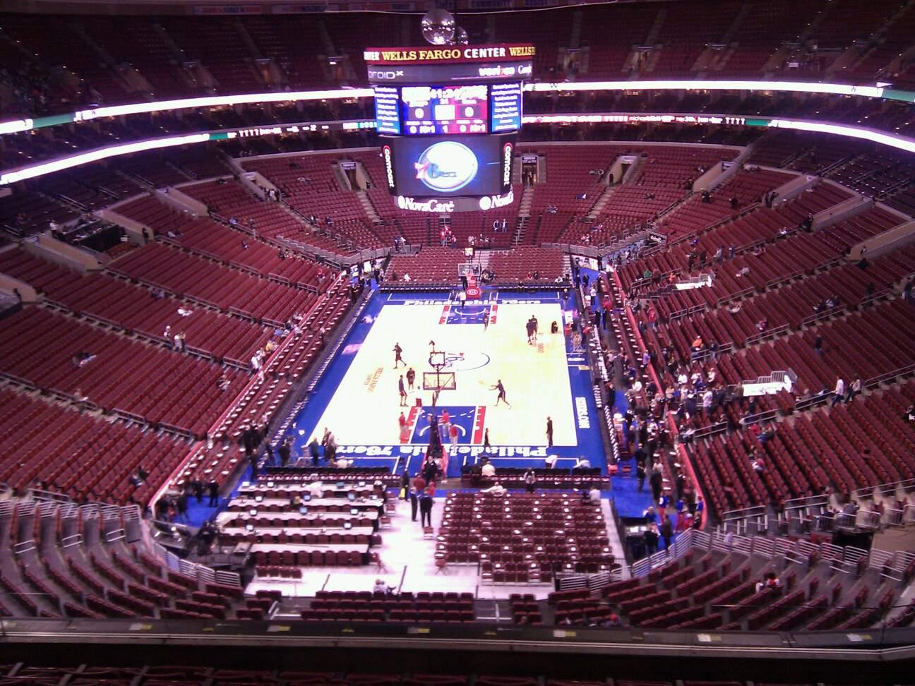 Wells Fargo Center Section 219a Row 8 Seat 10