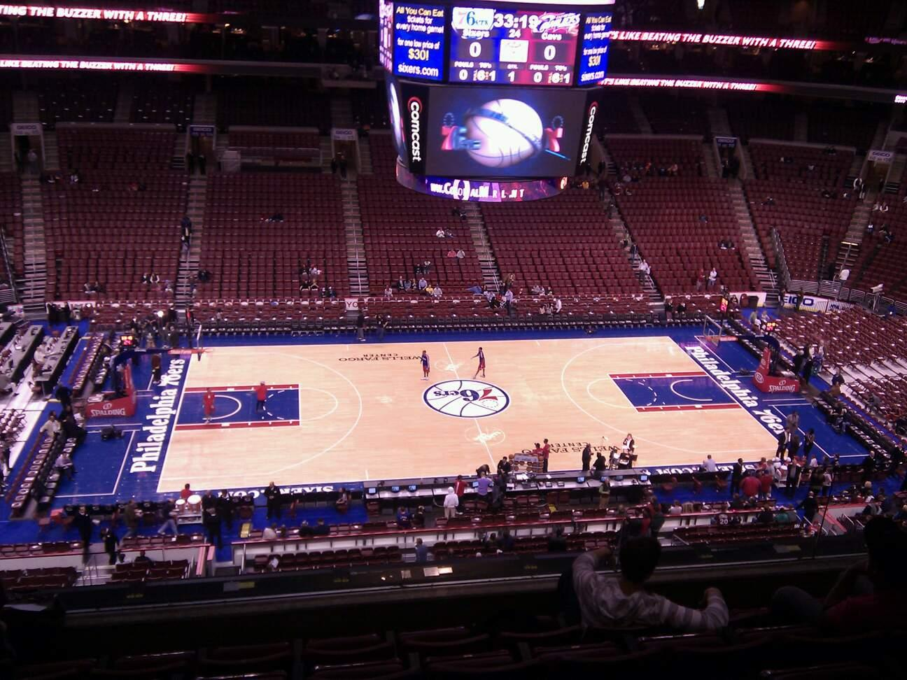 Wells Fargo Center Section 224 Row 6 Seat 9
