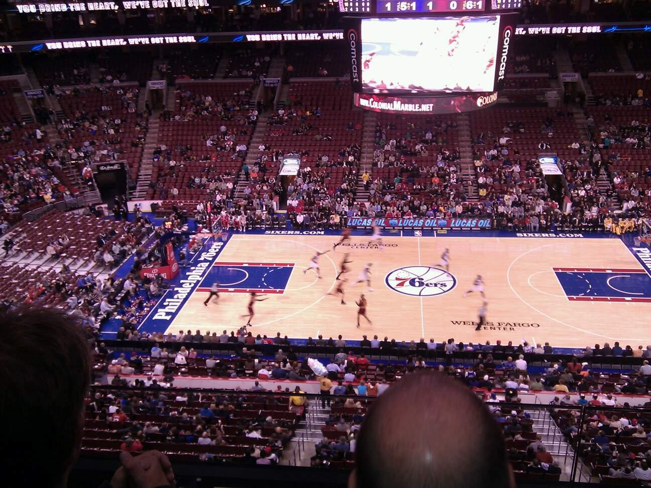 Wells Fargo Center Section 213 Row 2 Seat 5