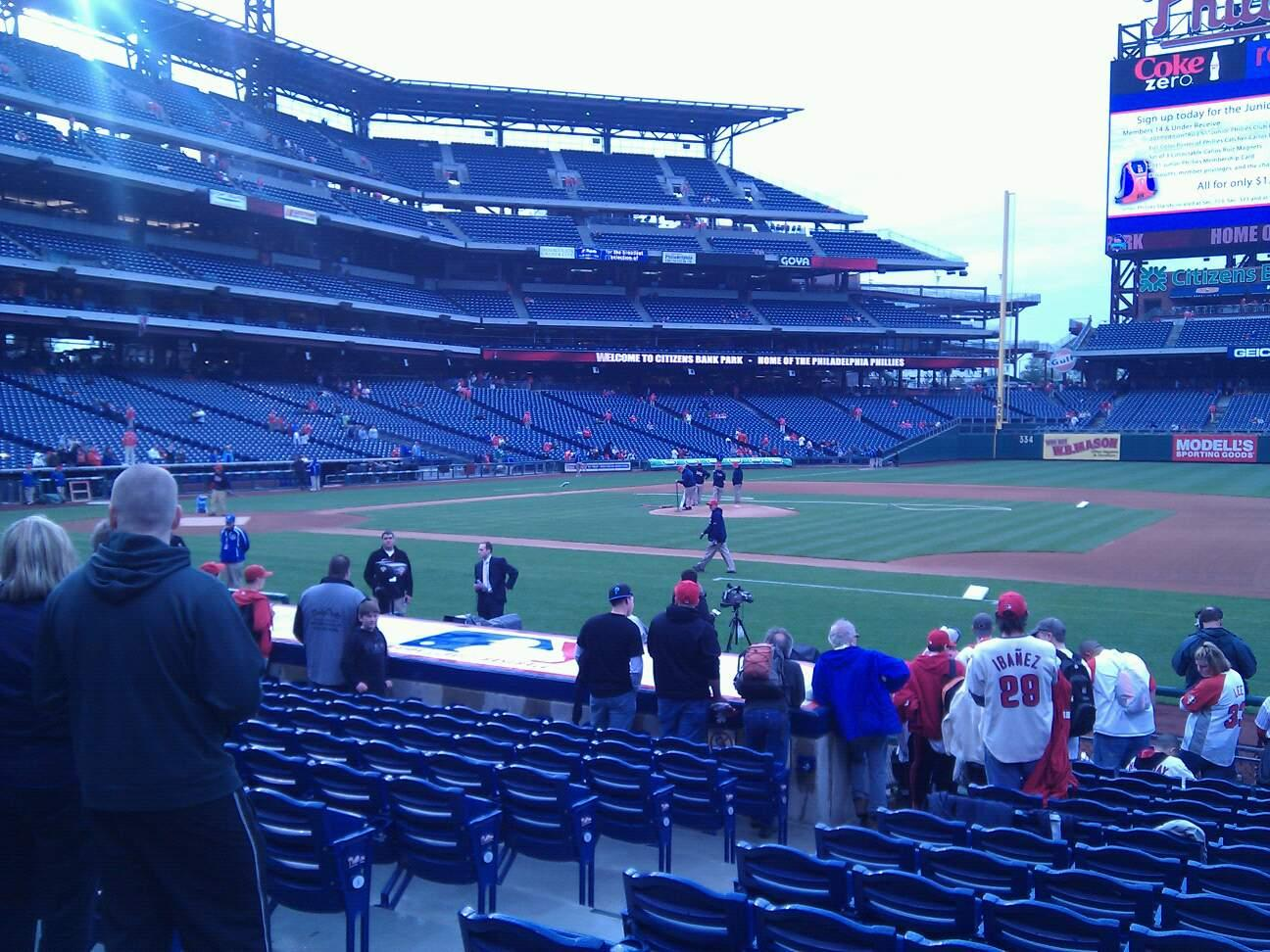 Citizens Bank Park Section 115 Row 11 Seat 14