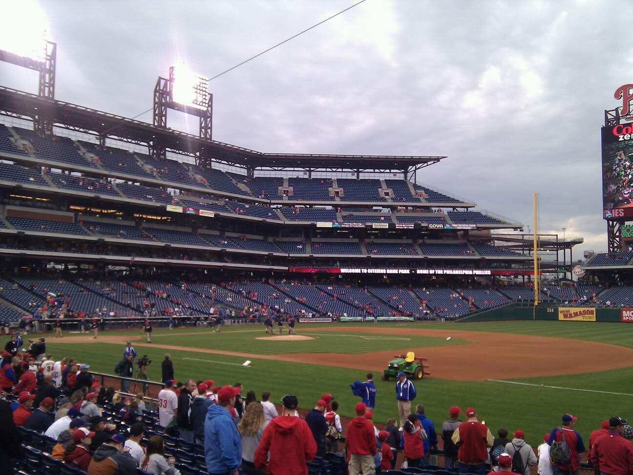 Citizens Bank Park Section 113 Row 16 Seat 6