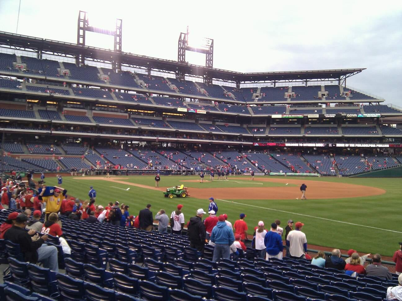Citizens Bank Park Section 111 Row 16 Seat 4