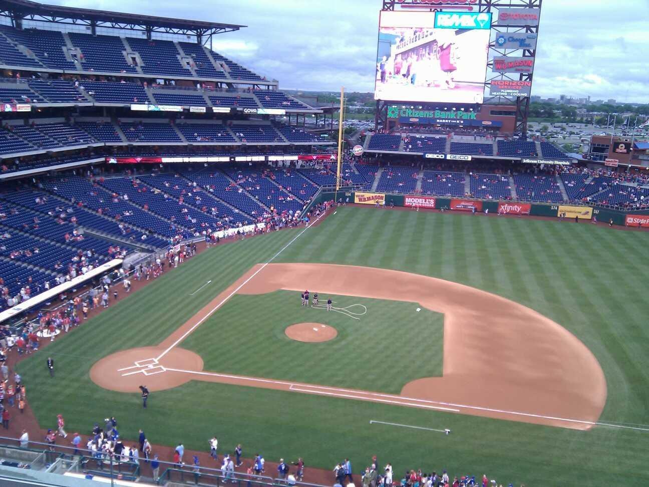Citizens Bank Park Section 315 Row 6 Seat 10