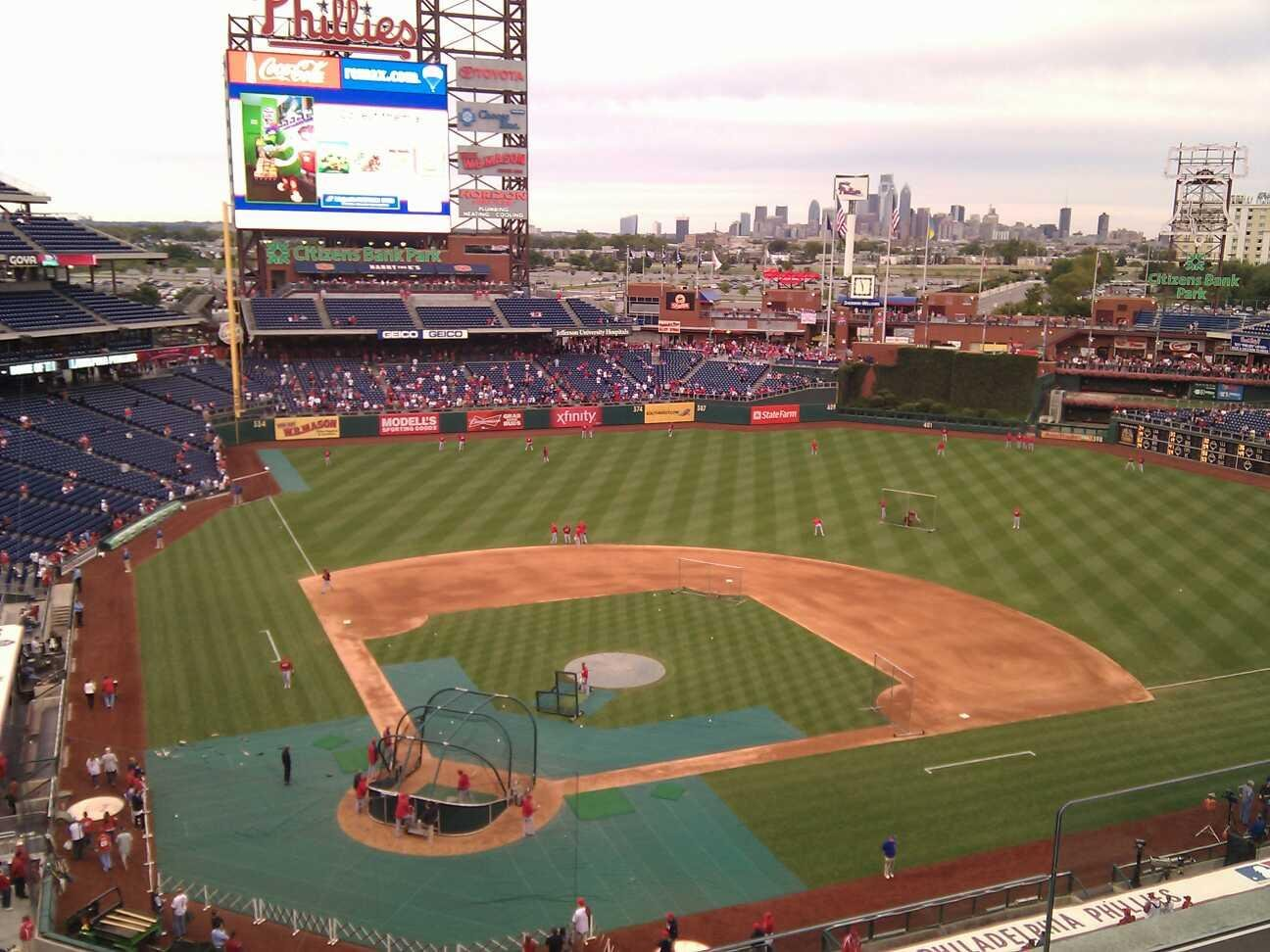 Citizens Bank Park Section 318 Row 4 Seat 6