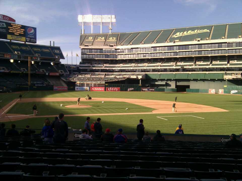 Oakland Alameda Coliseum Section 114 Row 18 Seat 16