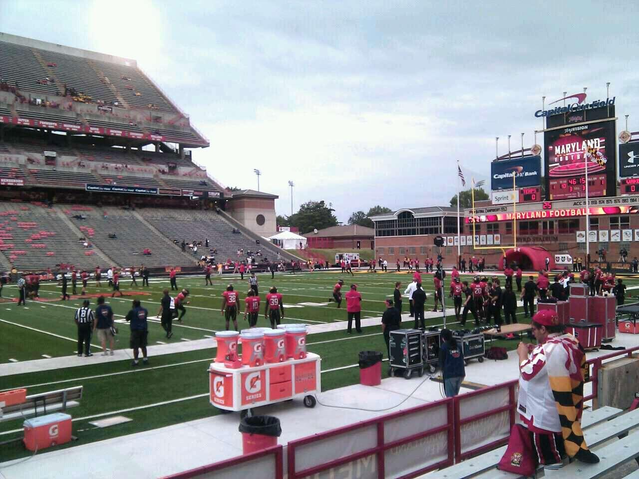 Maryland Stadium Section 24 Row g Seat 10