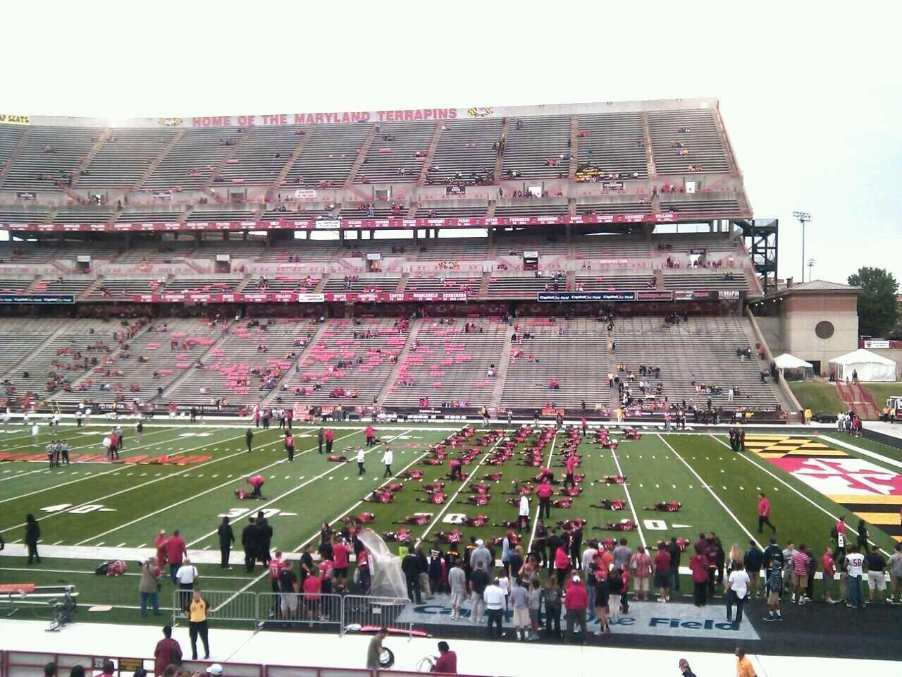Maryland Stadium Section 27 Row bb Seat 22