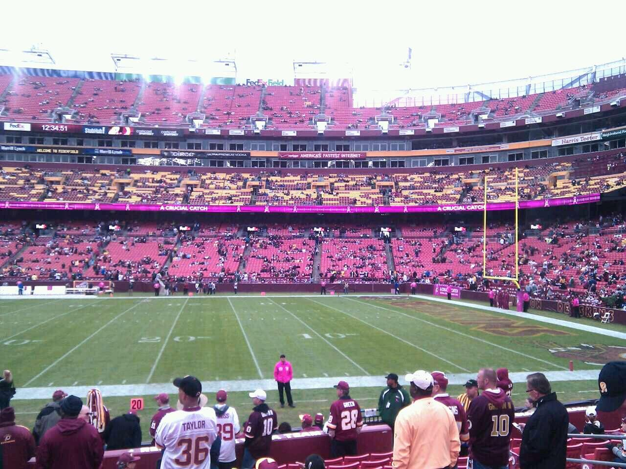 FedEx Field Section 140 Row 13 Seat 10