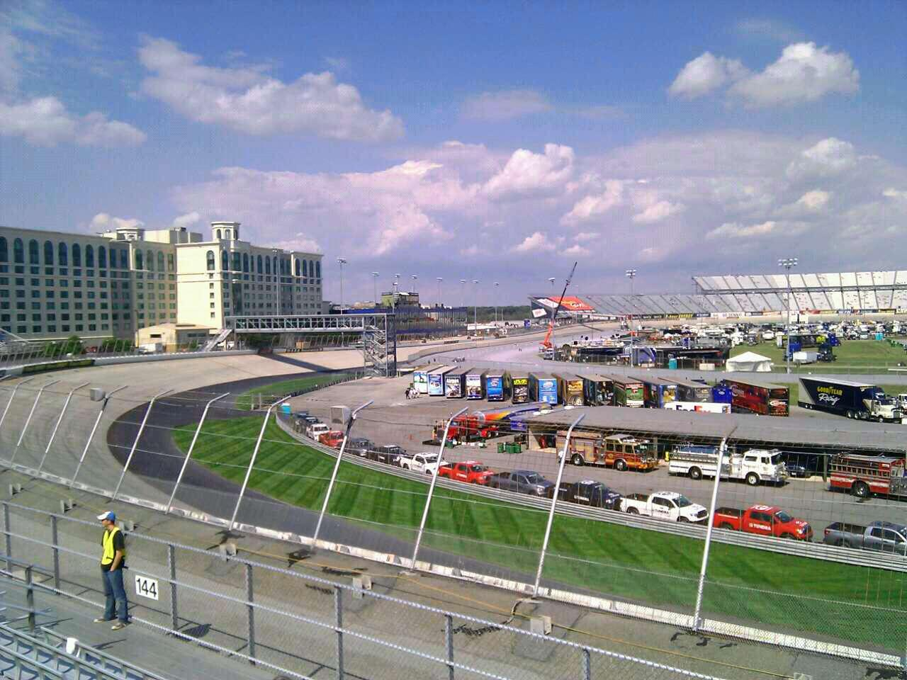 Dover International Speedway Section 143 Row 14 Seat 9