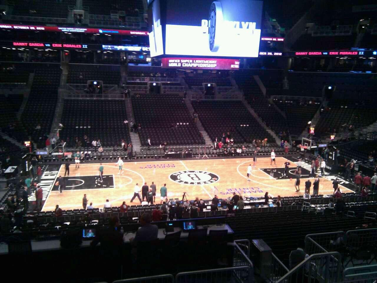 Barclays Center Section 110 Row 9 Seat 6