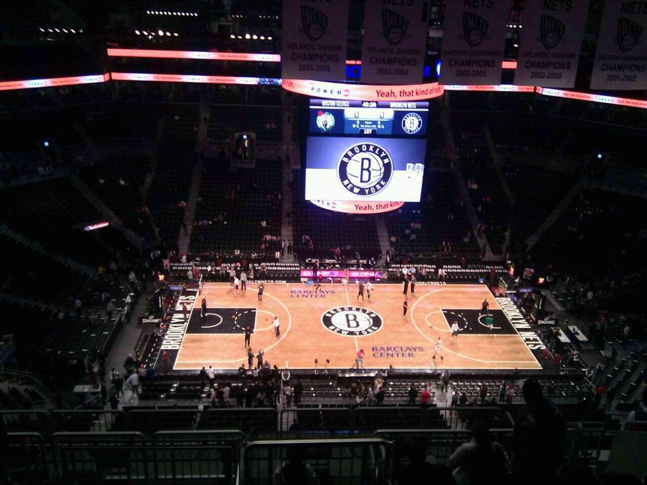 Barclays Center section 225 row 12 seat 10 - Brooklyn Nets ...