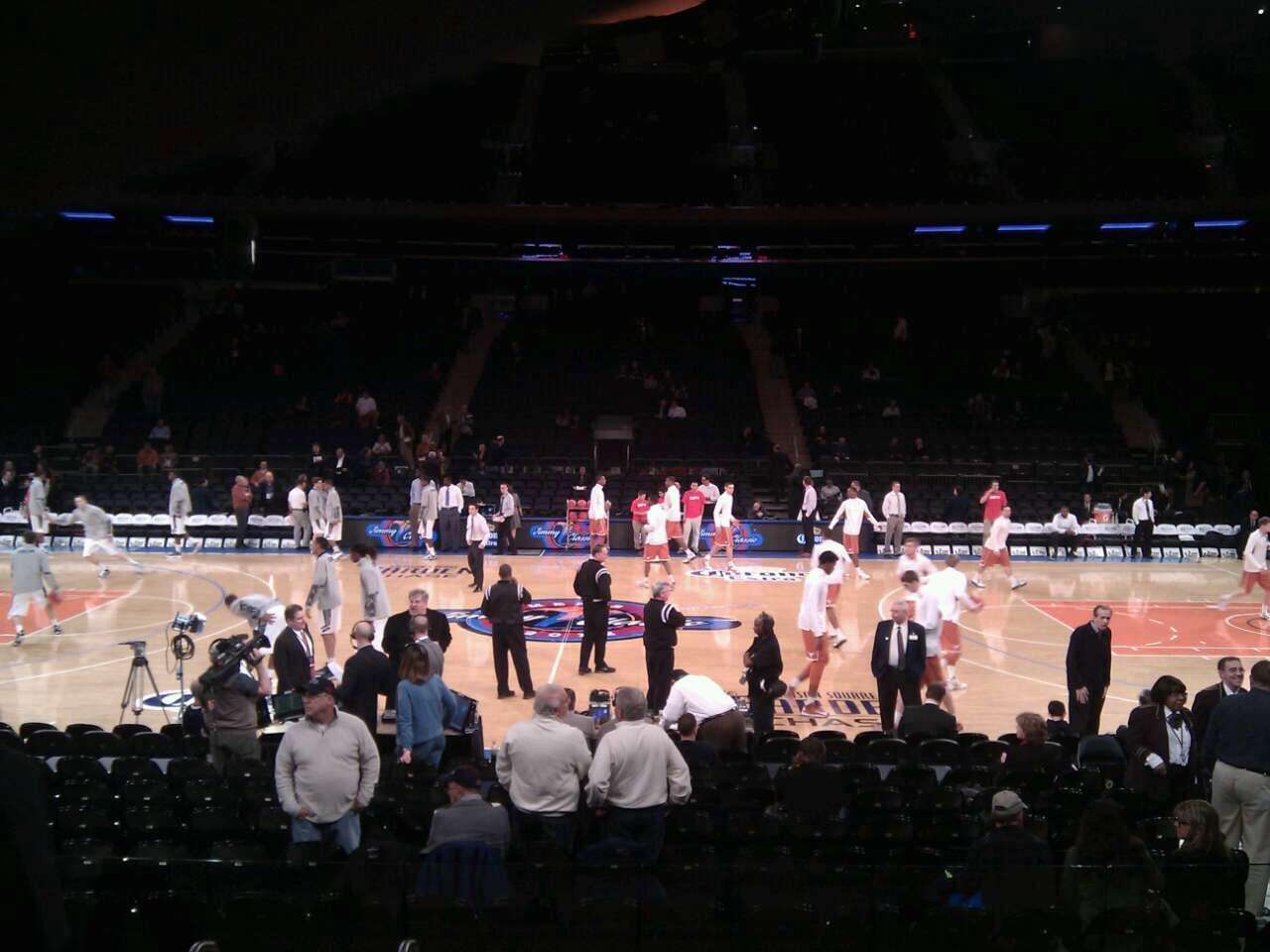 New York Knicks Madison Square Garden Section 117