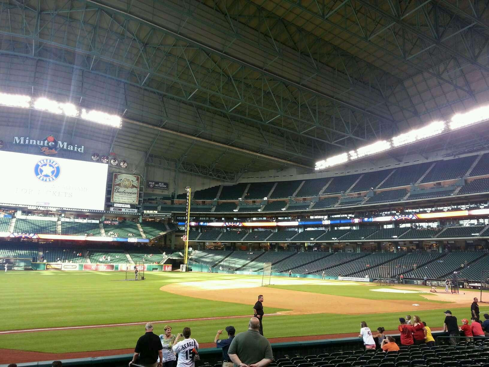 Houston Astros Seat View Minute Maid Park Section 124 Seat