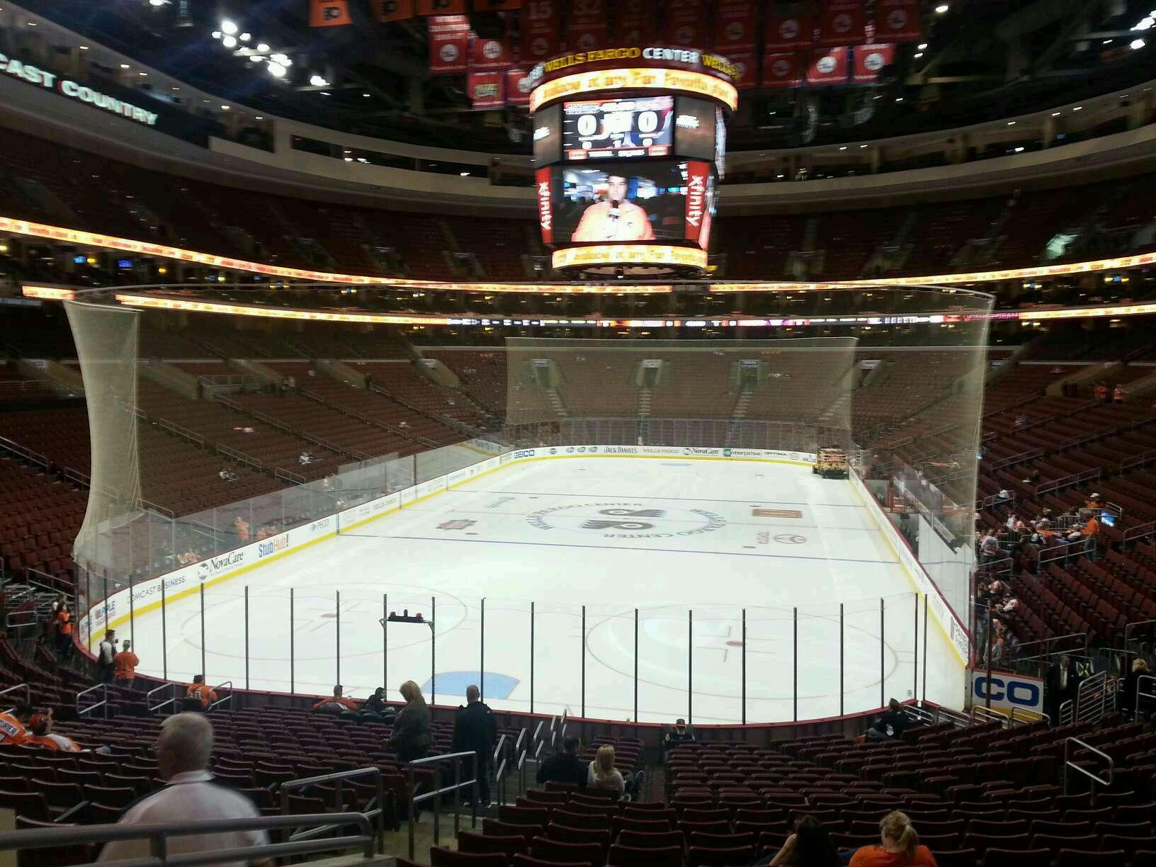 Philadelphia Flyers Seat View for Wells Fargo Center Section 120, Row 23, Seat 2