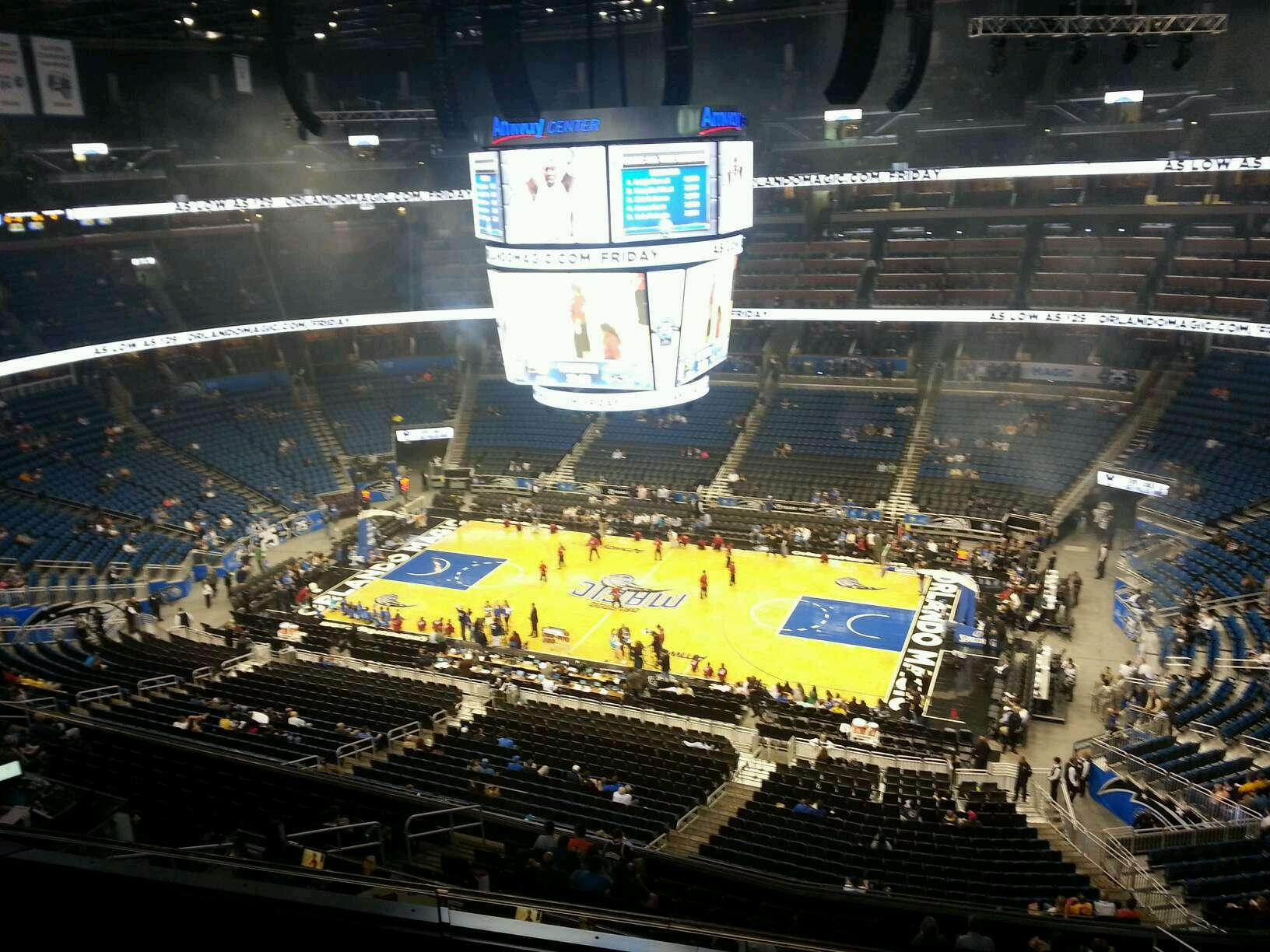 Amway Center Section 207 Row 3 Seat 12