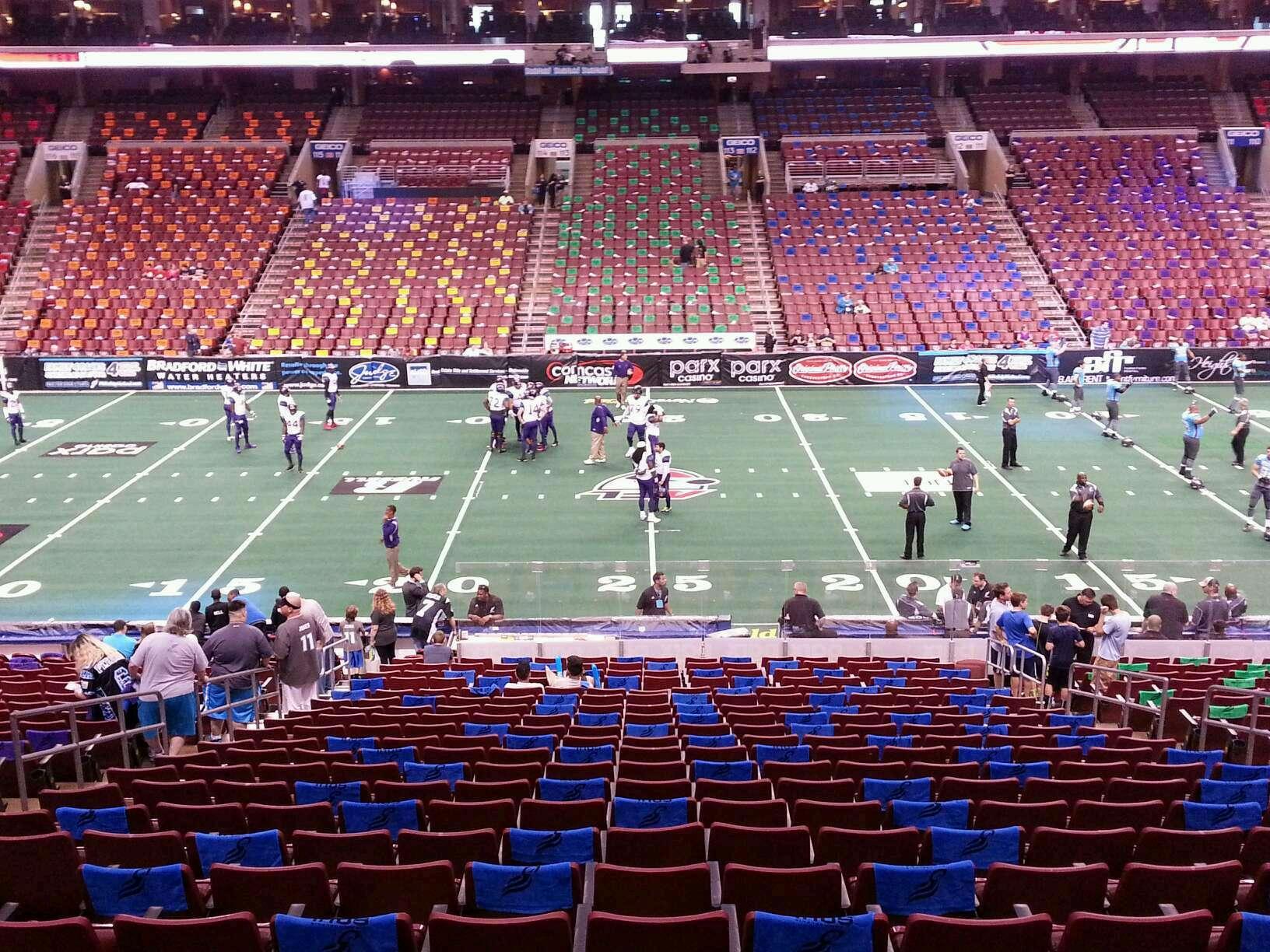 Wells Fargo Center Section SB1 Row 1 Seat 7