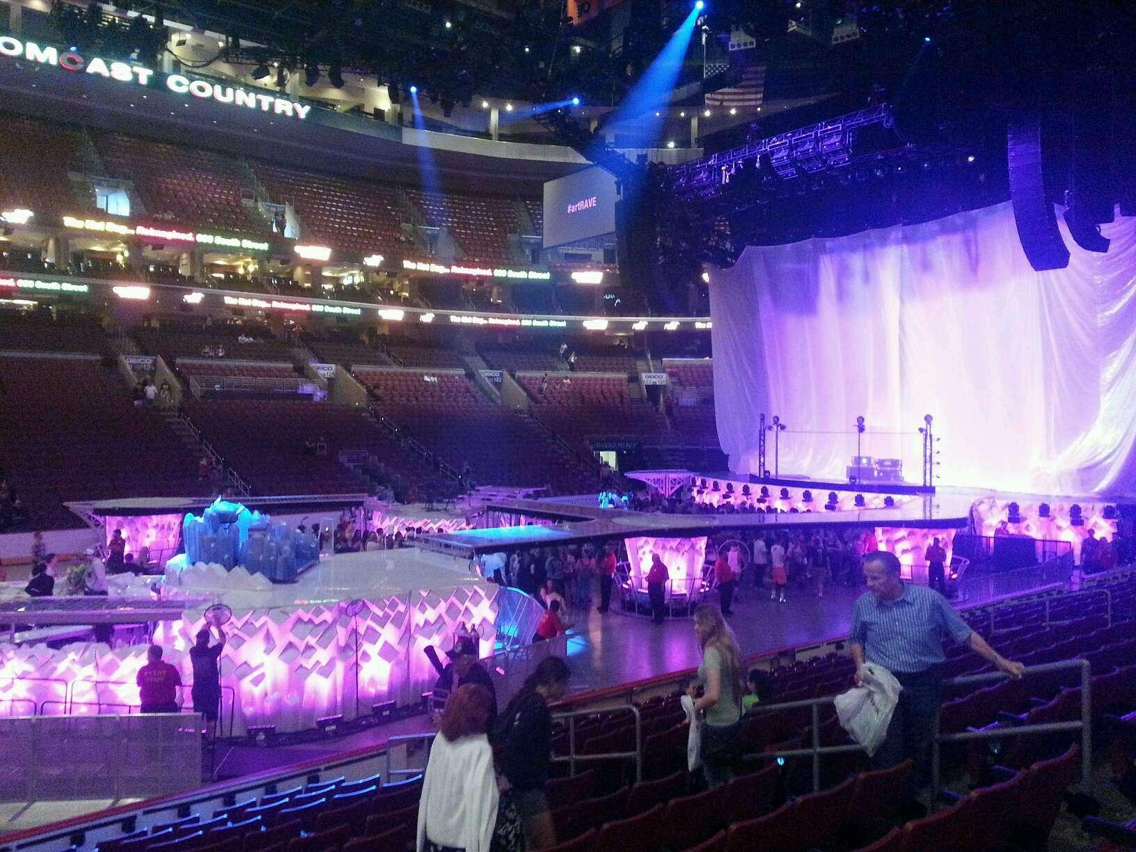 Wells Fargo Center Section 112 Concert Seating