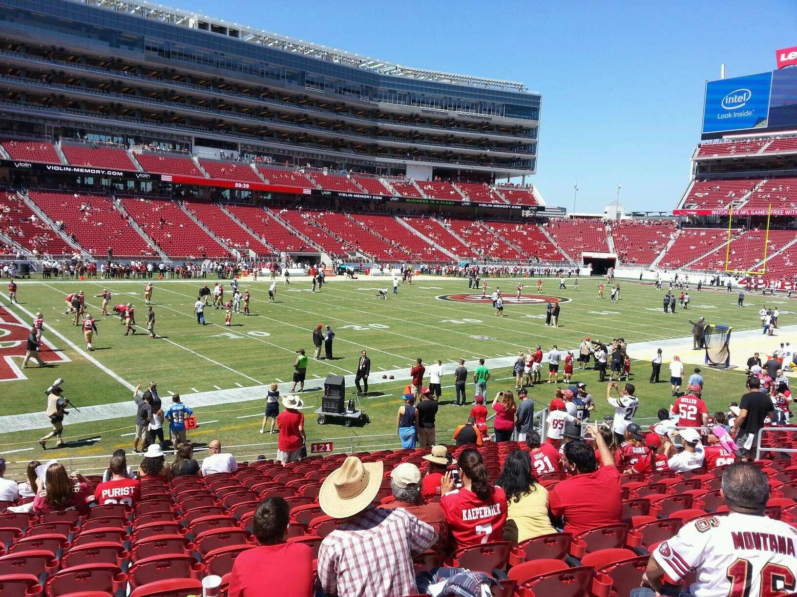 Levi's Stadium Section 121 Row 16 Seat 17