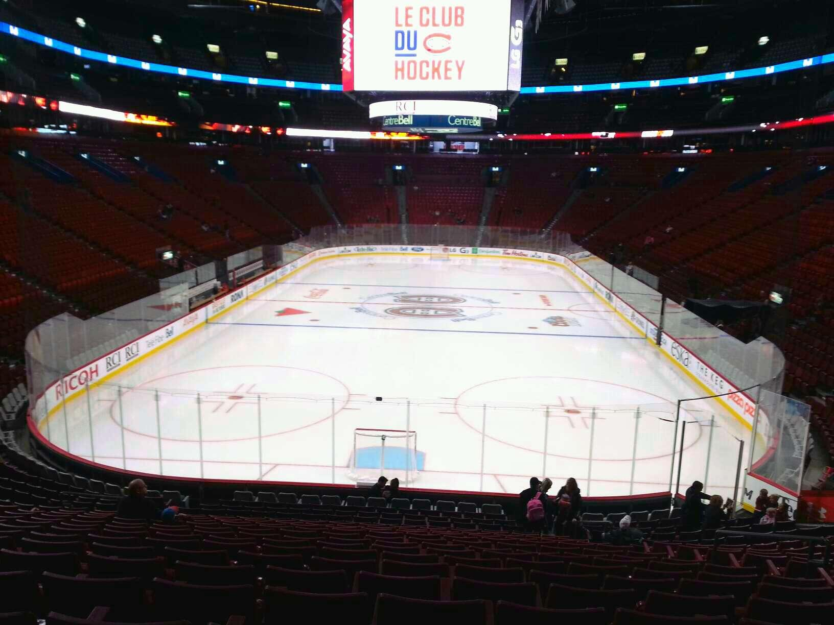 View from Section 119 Row P at Bell Centre