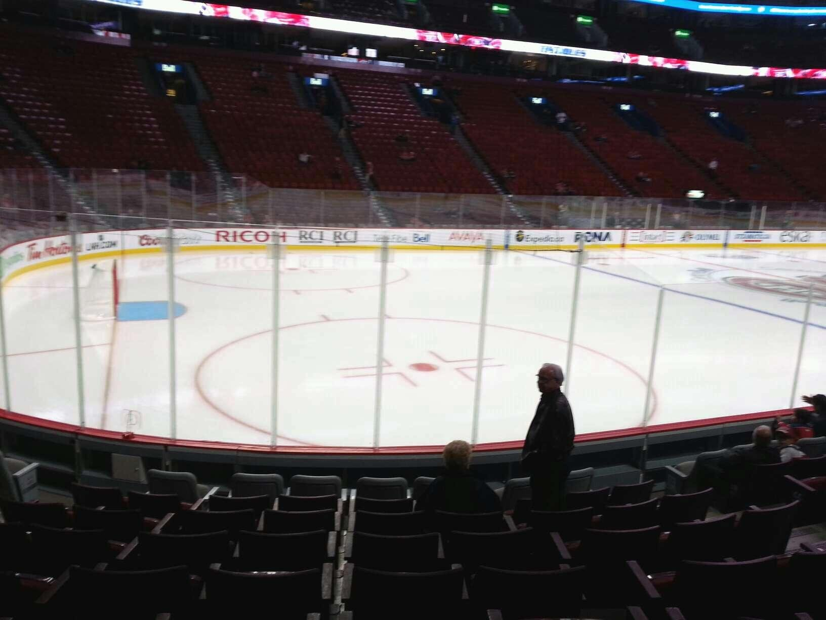 View from Section 104 Row C at Bell Centre