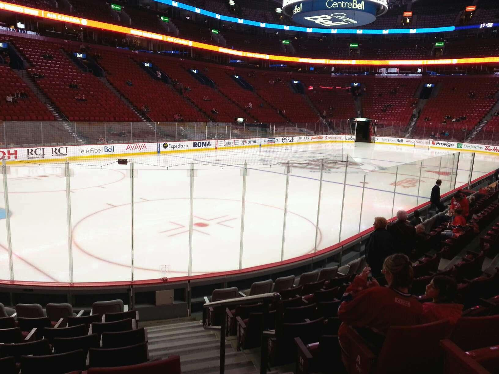 View From Section 105 Row D at Bell Centre