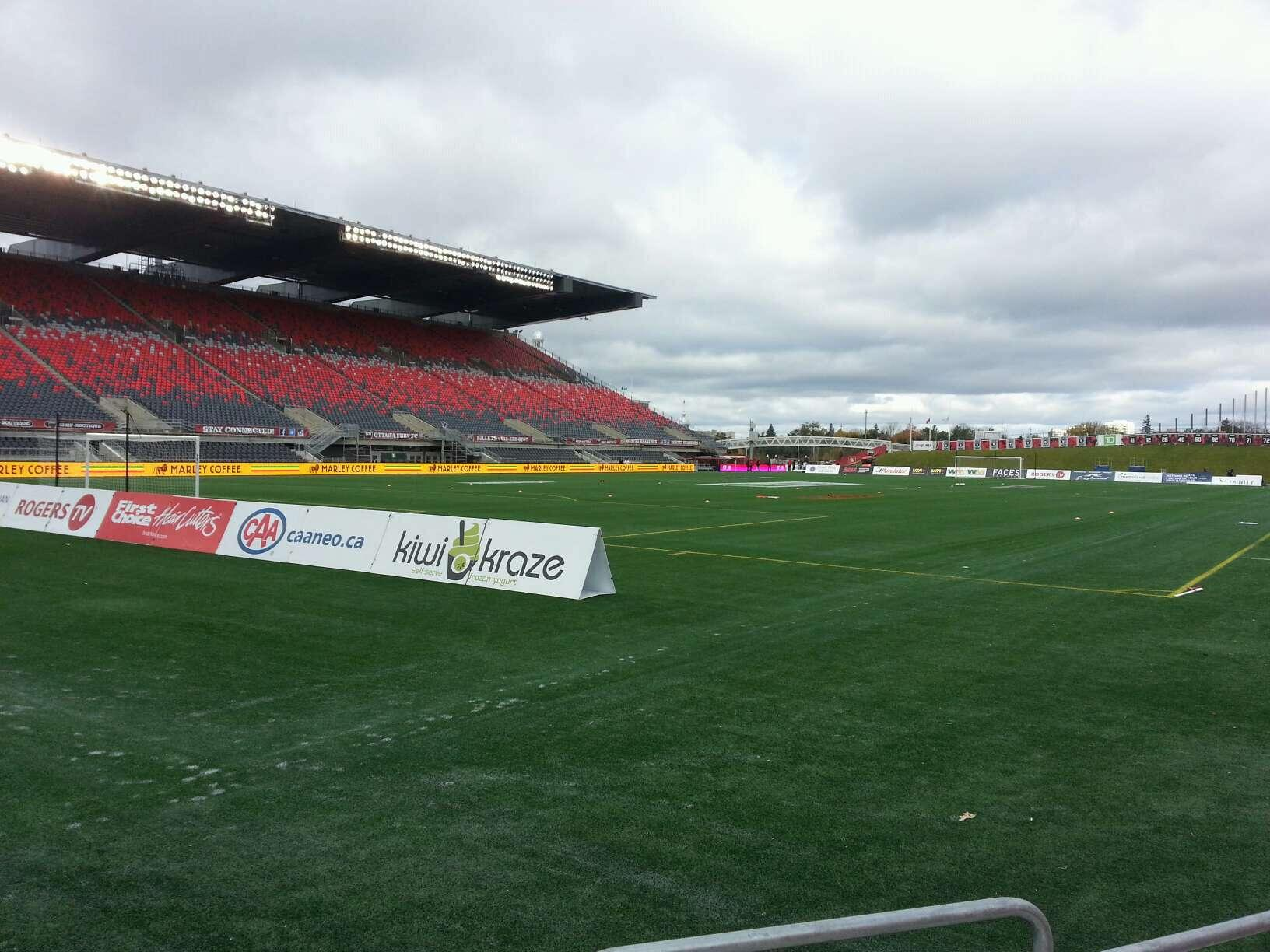 TD Place Stadium Section z Row 3 Seat 1