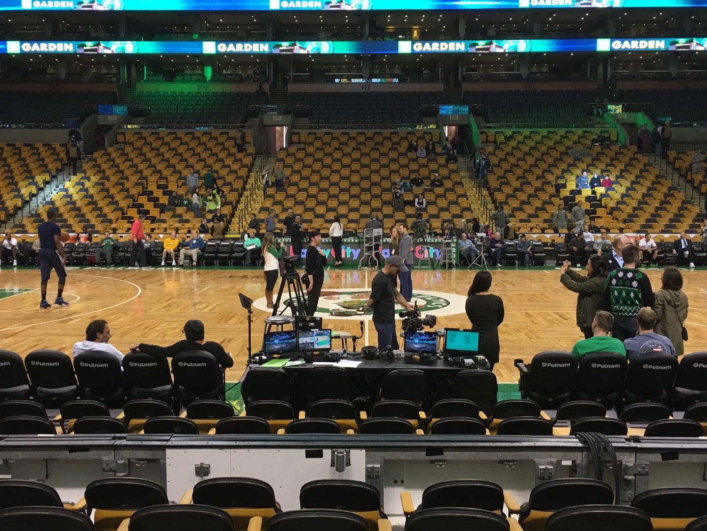 TD Garden, section Loge 12, row 6, seat 10 - Boston Celtics vs ...