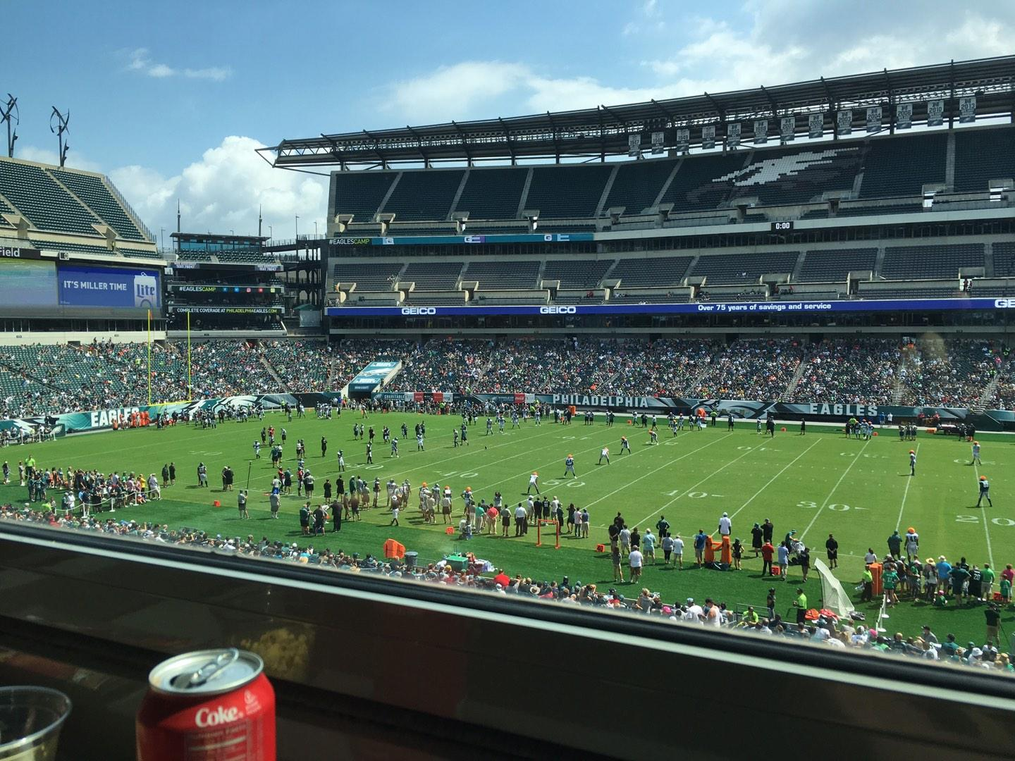 Lincoln Financial Field Section LS62 Row 1 Seat 2