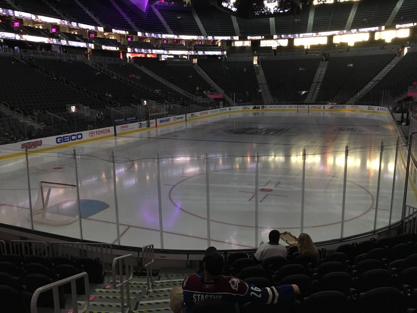 T-Mobile Arena Section 2 Row J Seat 1