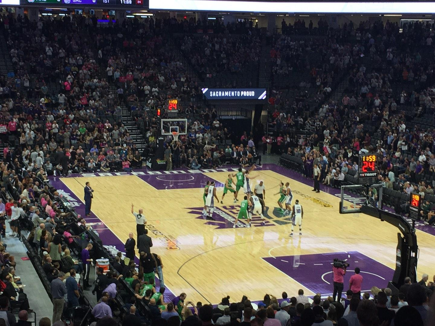 Golden 1 Center Section 102 Row U Seat 15