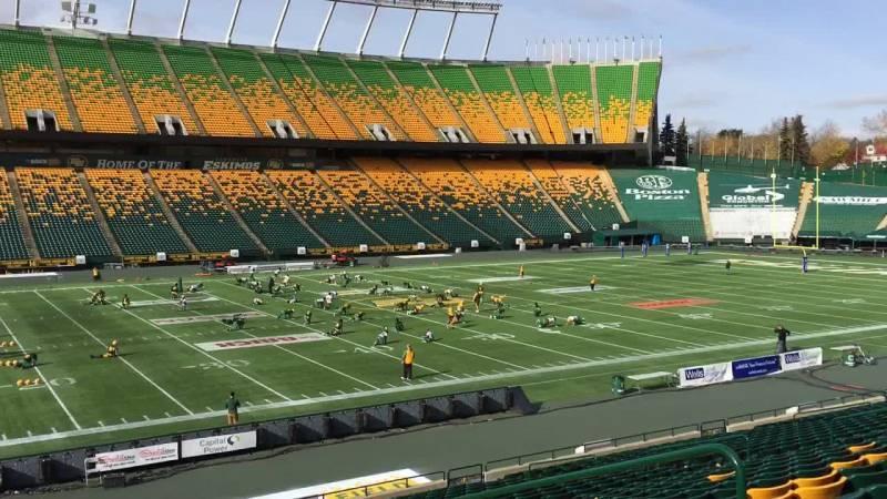 Commonwealth Stadium (Edmonton) Section X Row 25 Seat 5