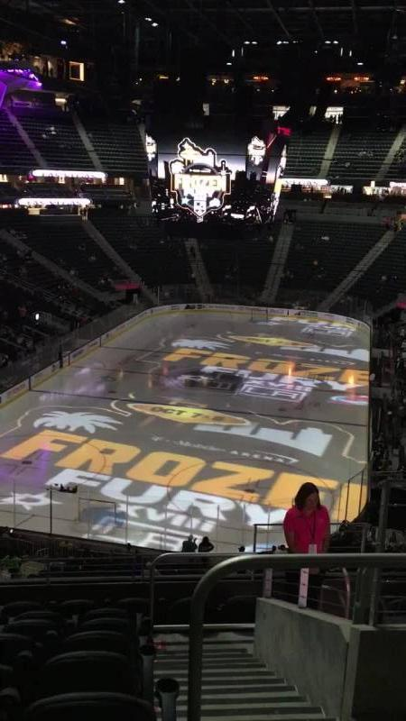 T-Mobile Arena Section 102 Row J Seat J
