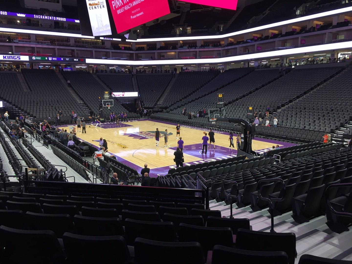Golden 1 Center Section 103 Row F Seat 3