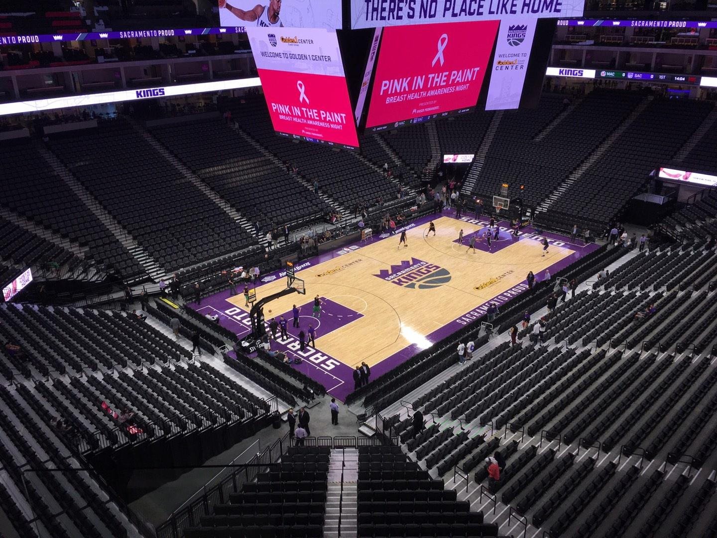 Golden 1 Center Section 221 Row B Seat 18