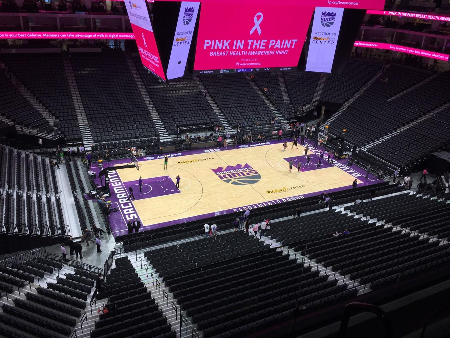 Golden 1 Center Section 220 Row B Seat 2