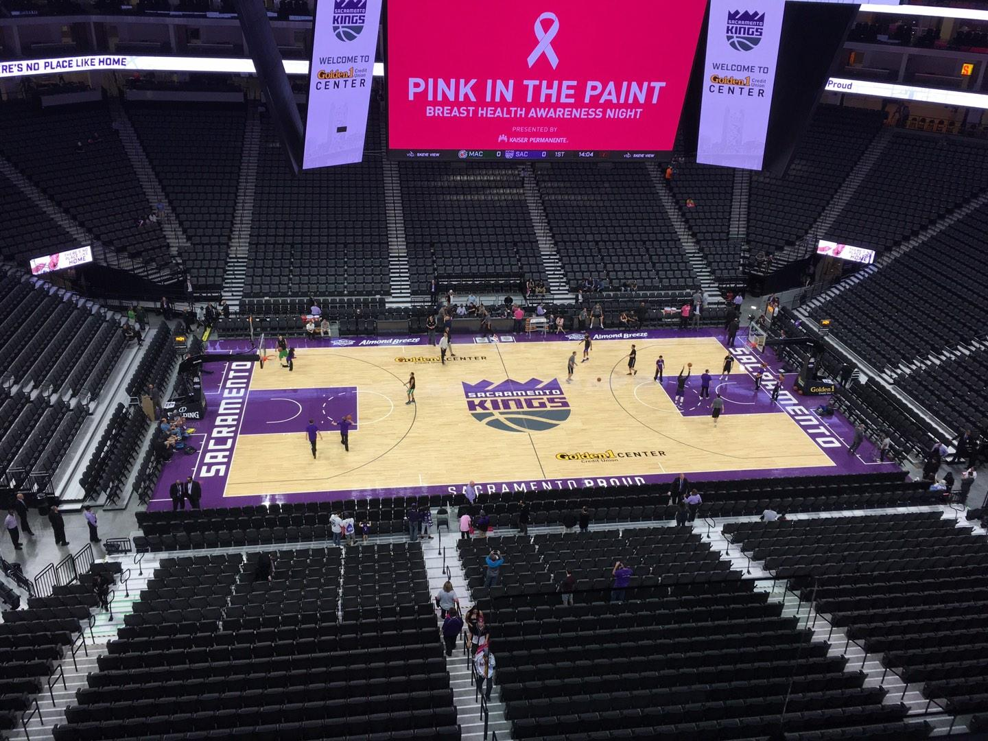 Golden 1 Center Section 219 Row B Seat 2