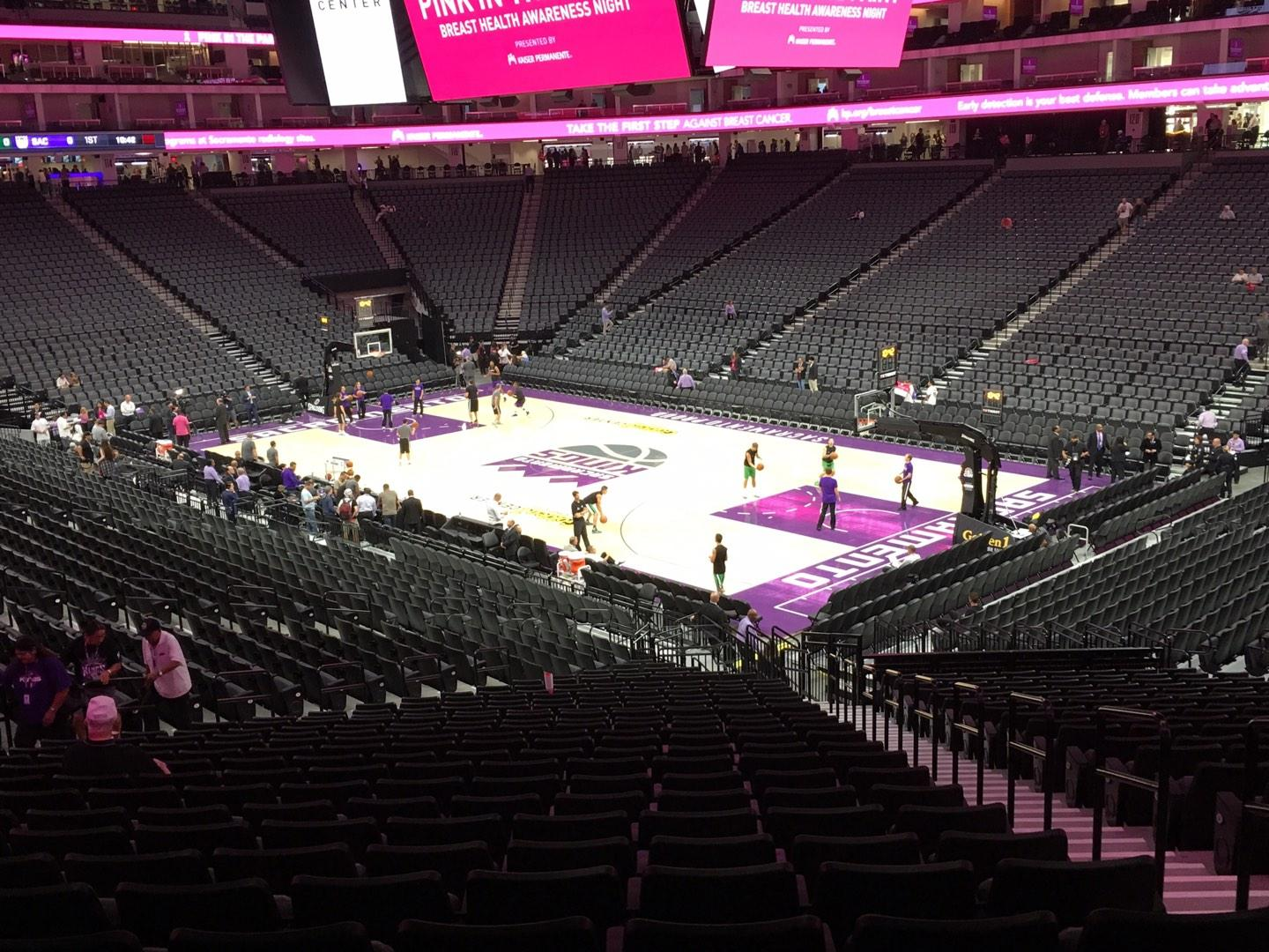 Golden 1 Center Section 104 Row W Seat 4