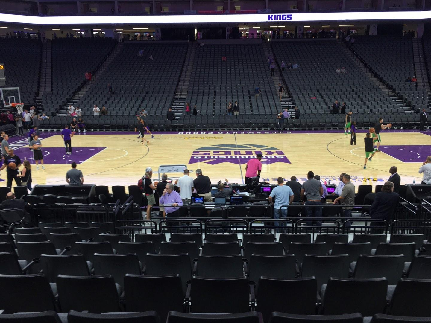 Golden 1 Center Section 107 Row A Seat 10
