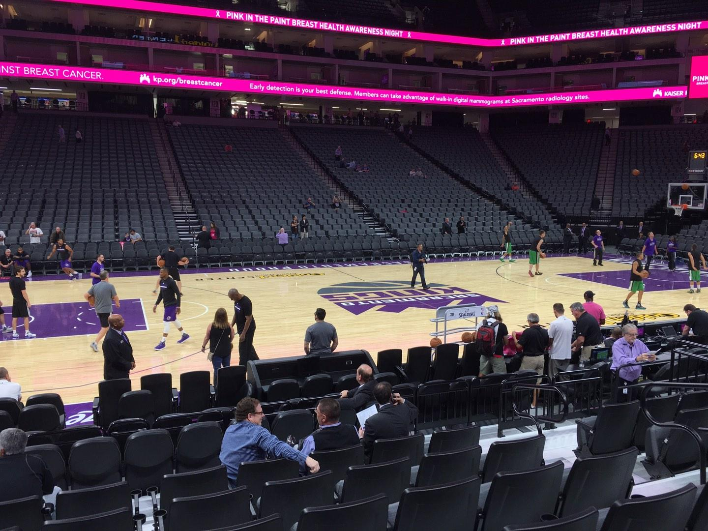 Golden 1 Center Section 108 Row Ff Seat 7