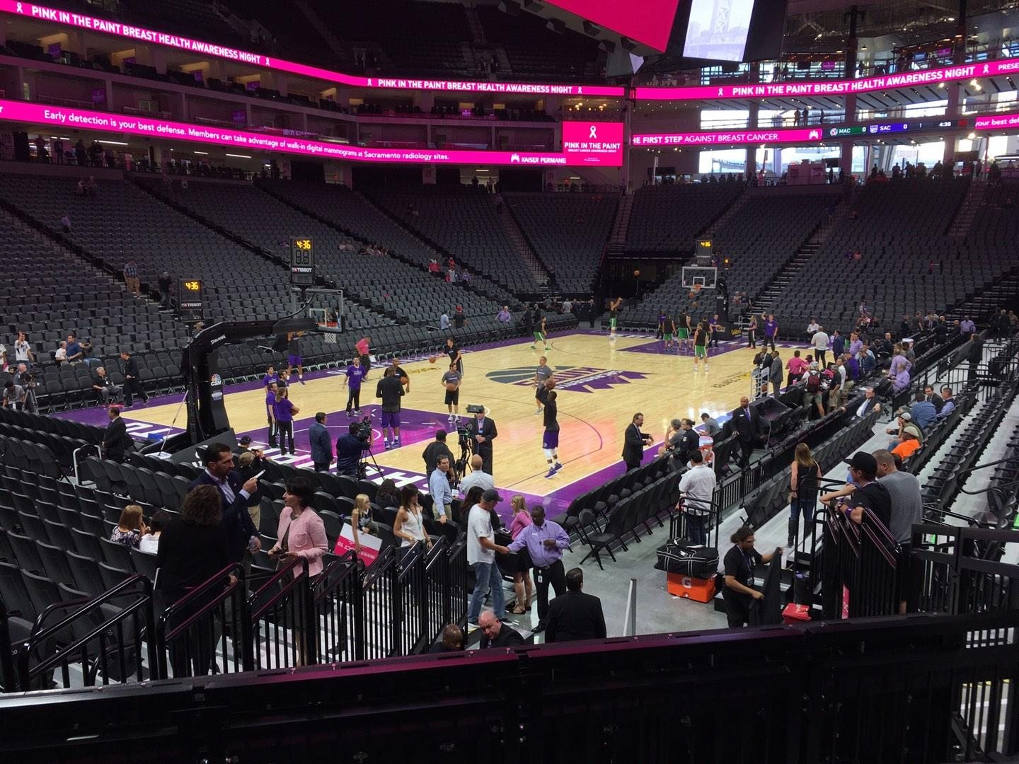Golden 1 Center Section 111 Row B Seat 5