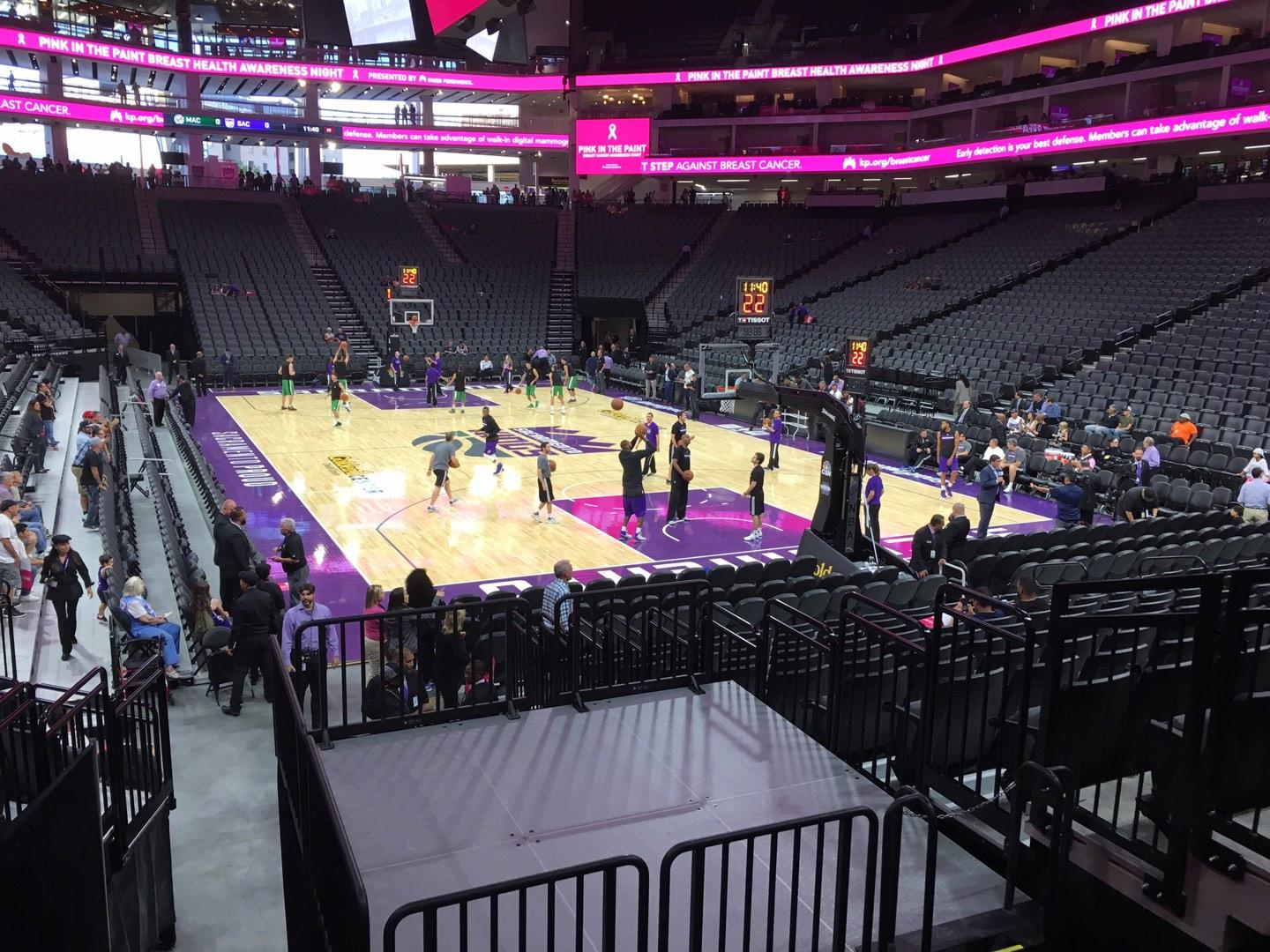 Golden 1 Center Section 115 Row G Seat 5