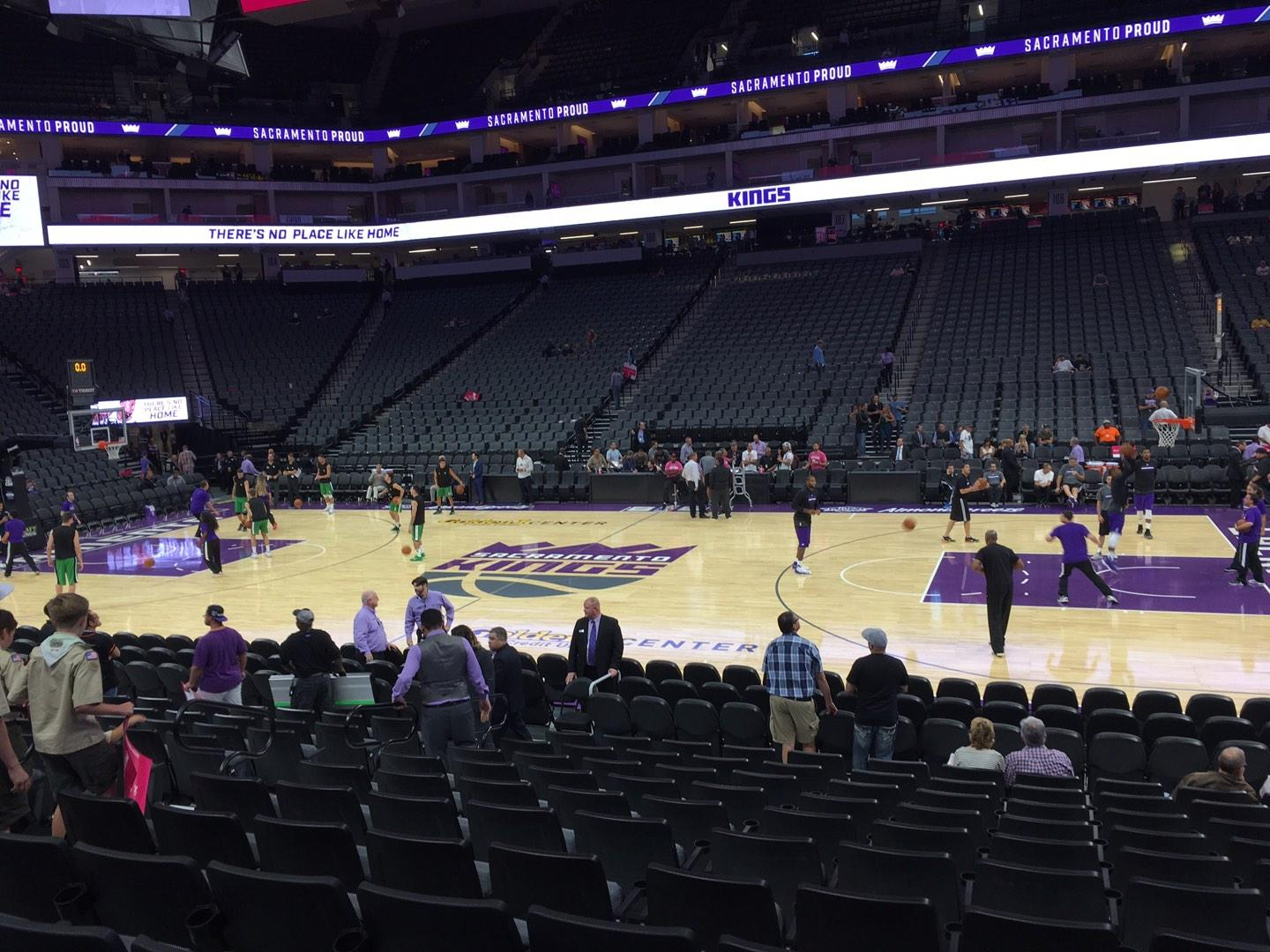 Golden 1 Center Section 119 Row A Seat 10