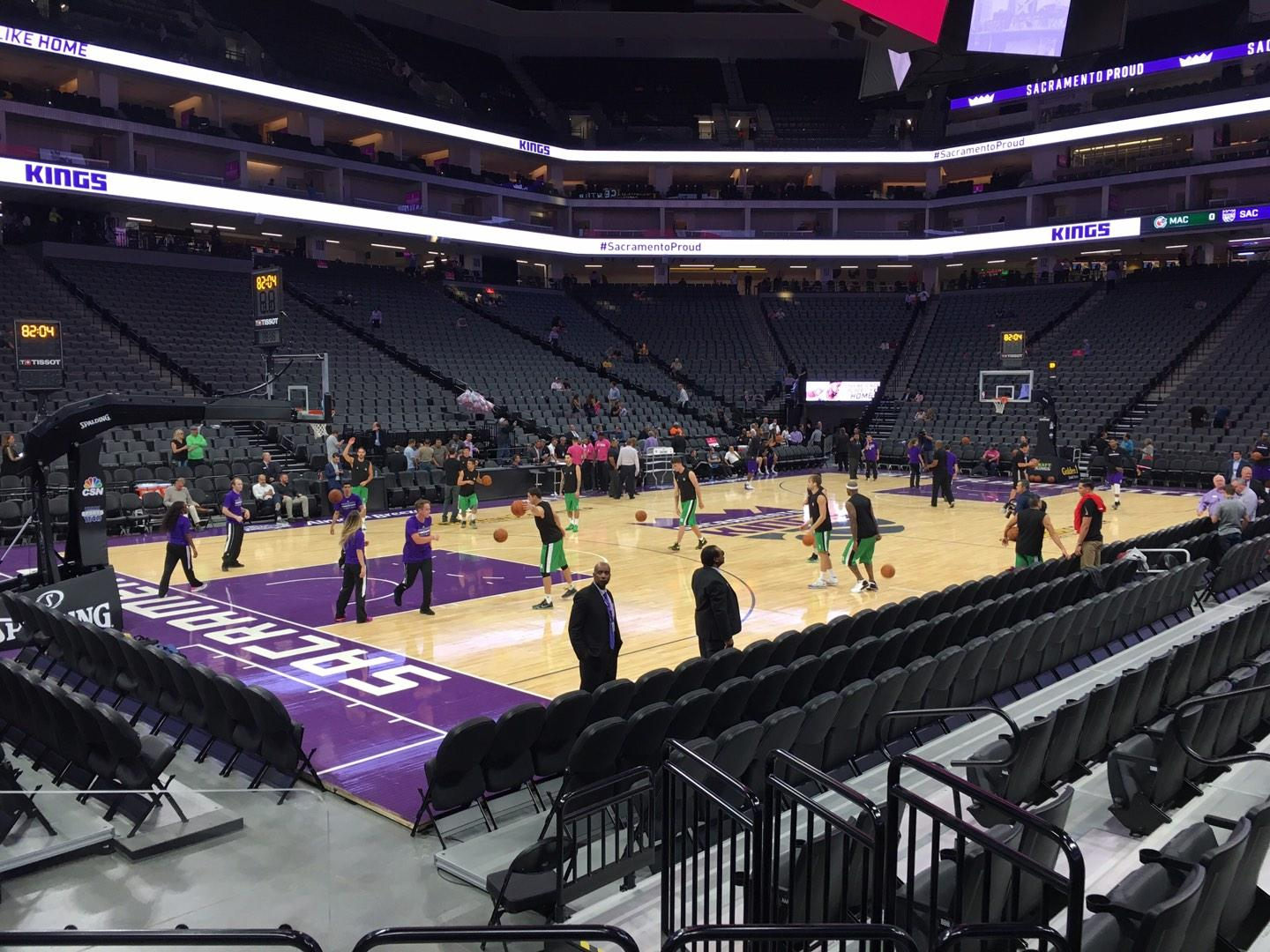 Golden 1 Center Section 123 Row Aa Seat 2