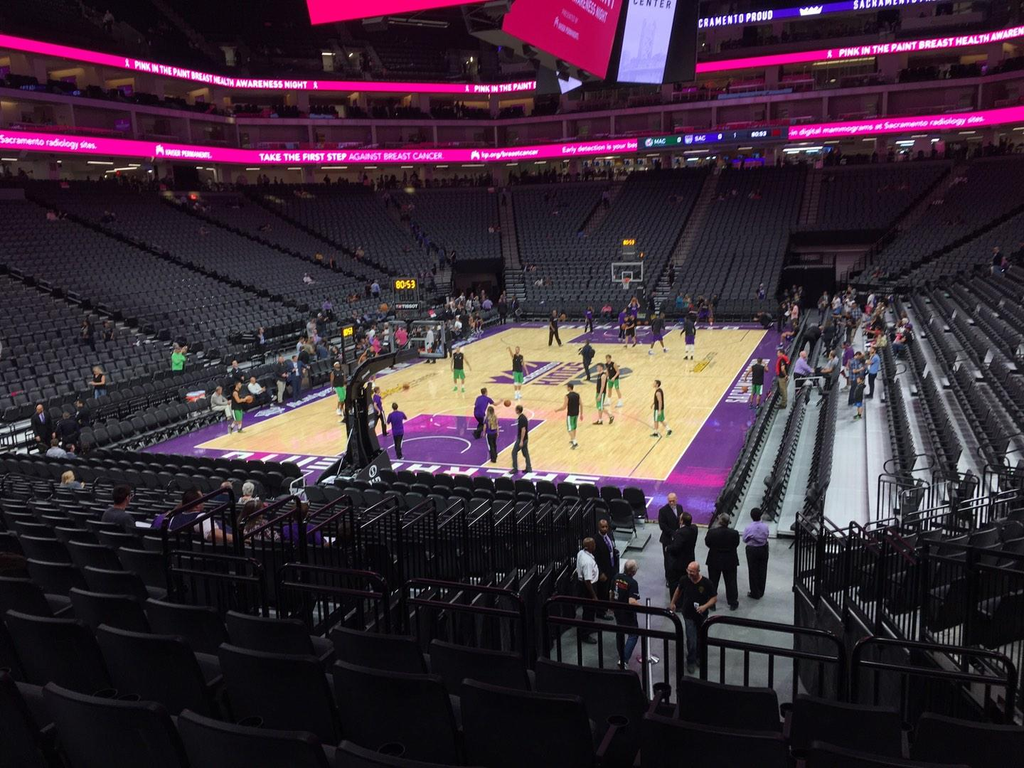 Golden 1 Center Section 125 Row J Seat 6