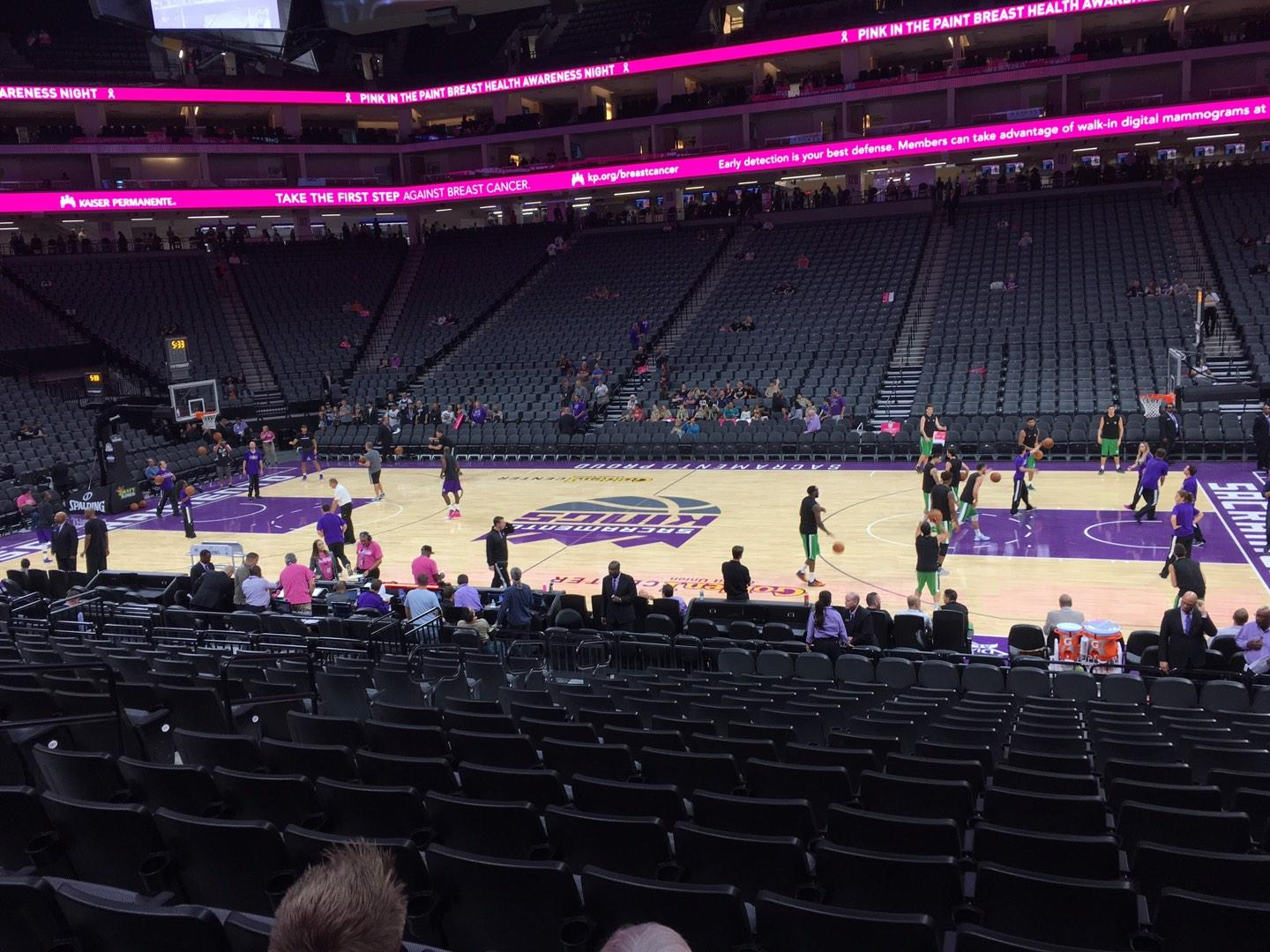 Golden 1 Center Section 106 Row F Seat 11