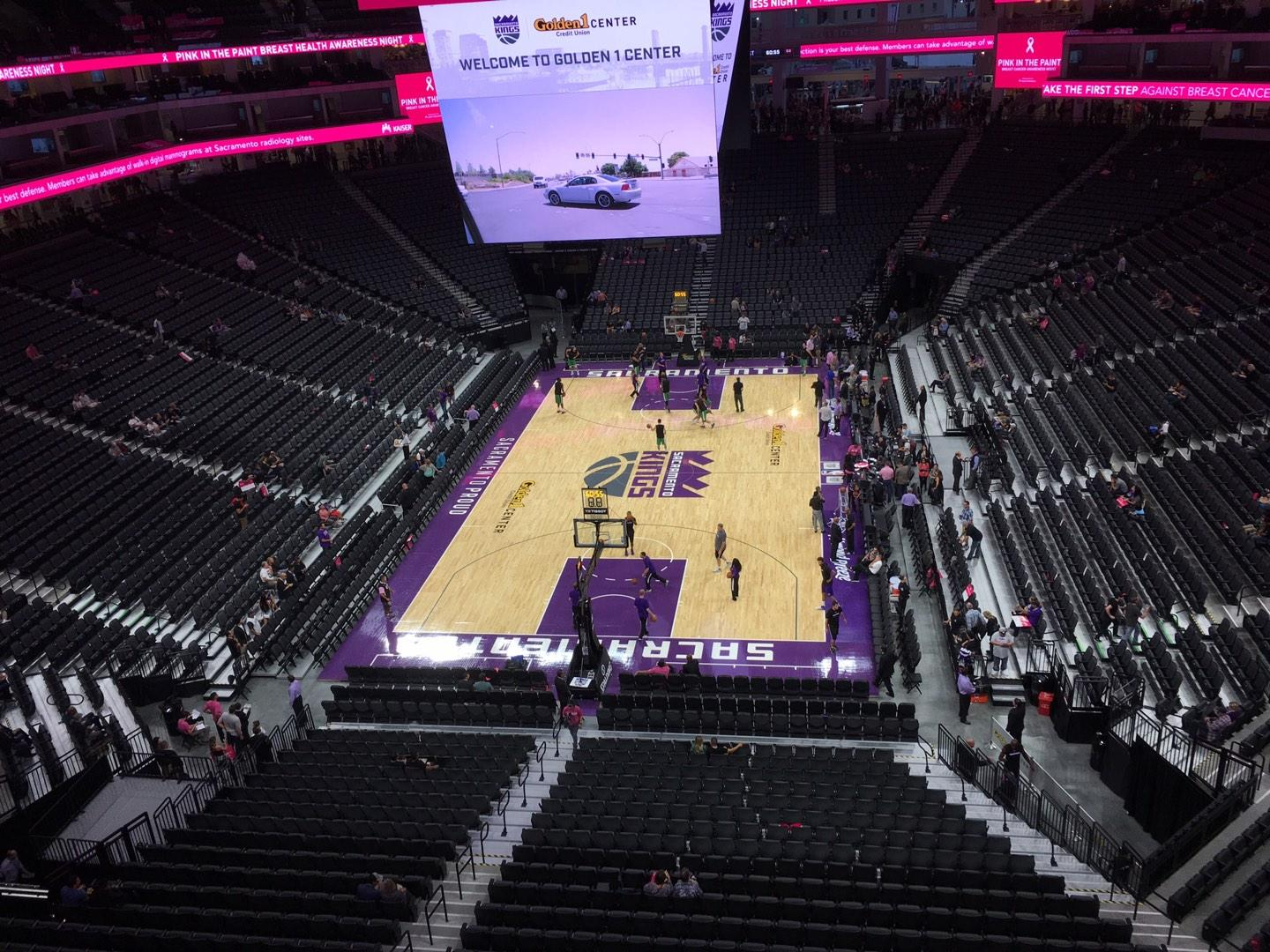 Golden 1 Center Section 211 Row A Seat 18