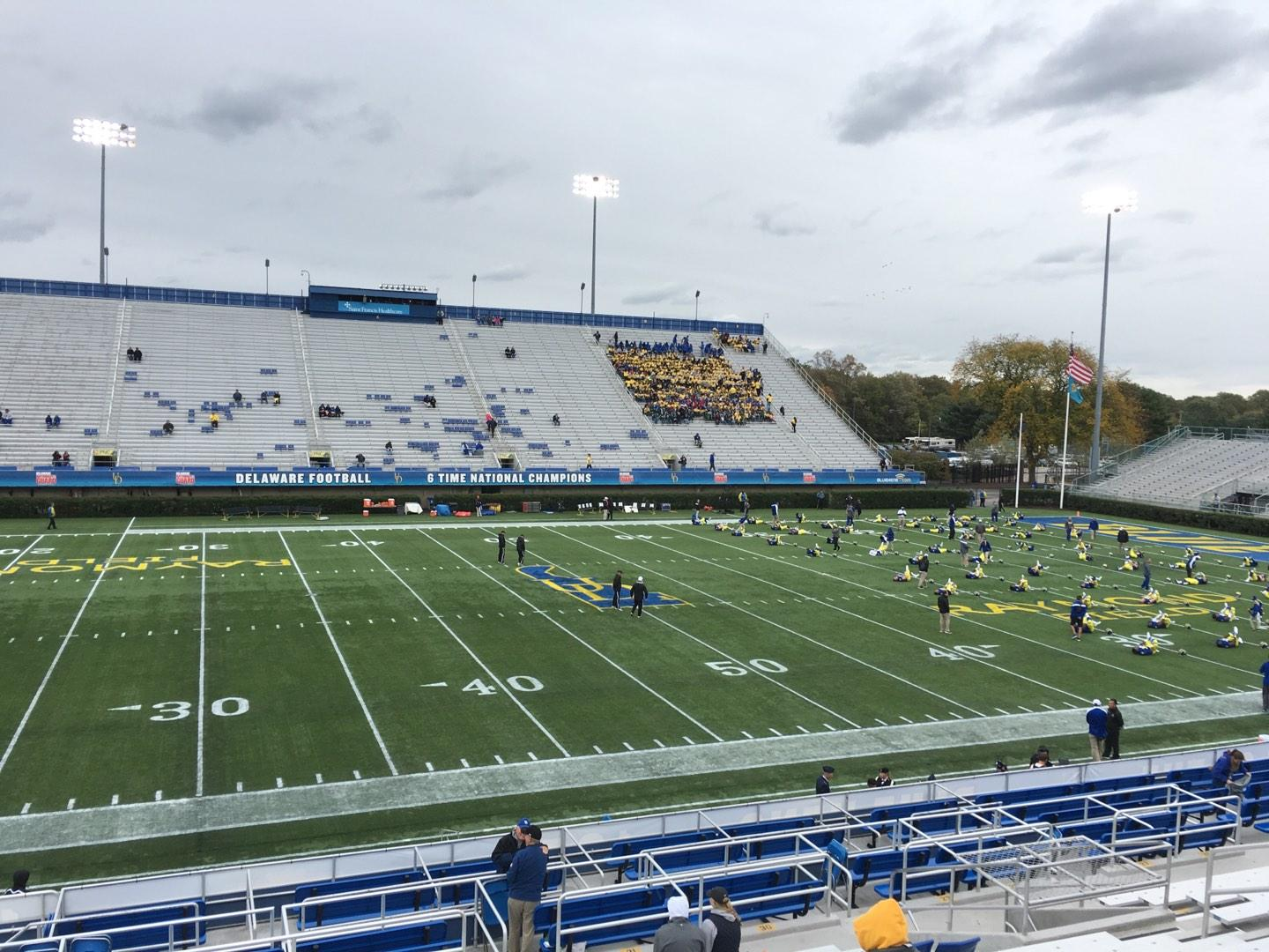 Delaware Stadium Section E Row P Seat 18