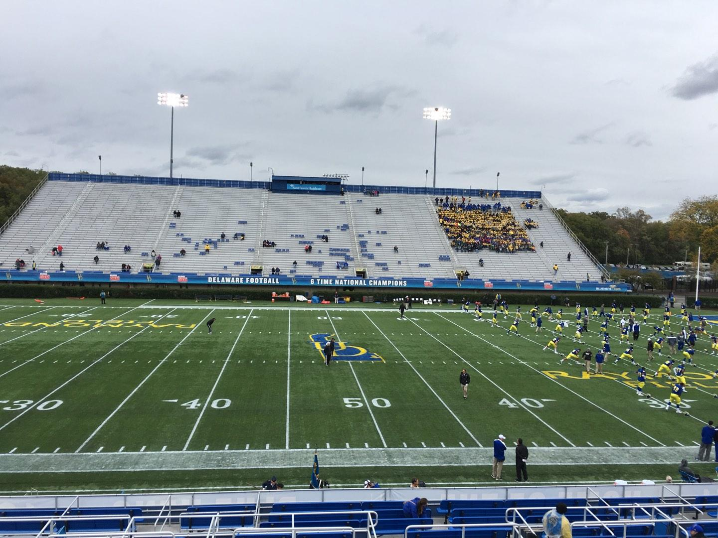 Delaware Stadium Section D Row R Seat 23