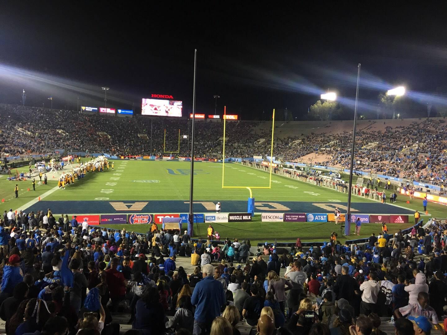 Rose Bowl Section 25-H Row 29 Seat 145